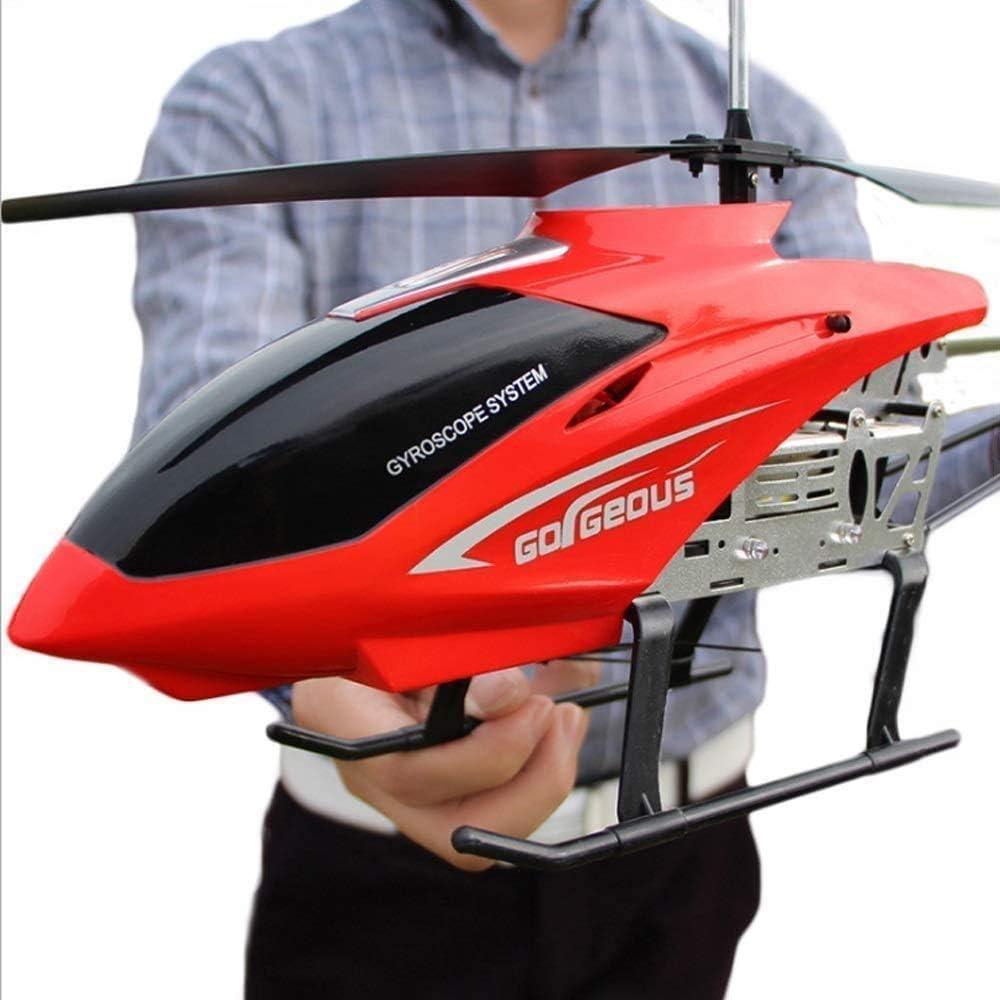 モデルカー ティーンエイジャーのヘリコプターリモートコントロール飛行機3.5CHチャンネル抵抗に落ちる巨大な安定した簡単におもちゃをフライング良い運用航空機玩具LEDヘリRCヘリコプター玩具飛行機大人ギフト学びます
