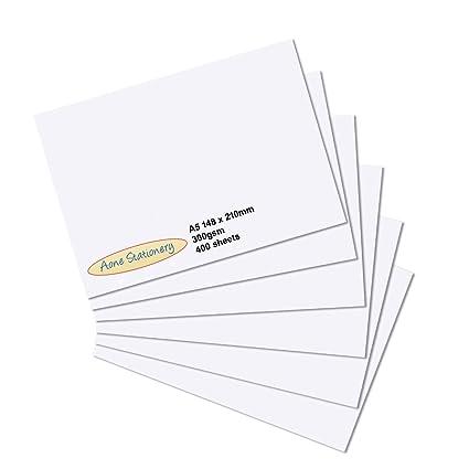A5 300 gsm tarjeta blanca - Superficie lisa 400 hoja 10 ...
