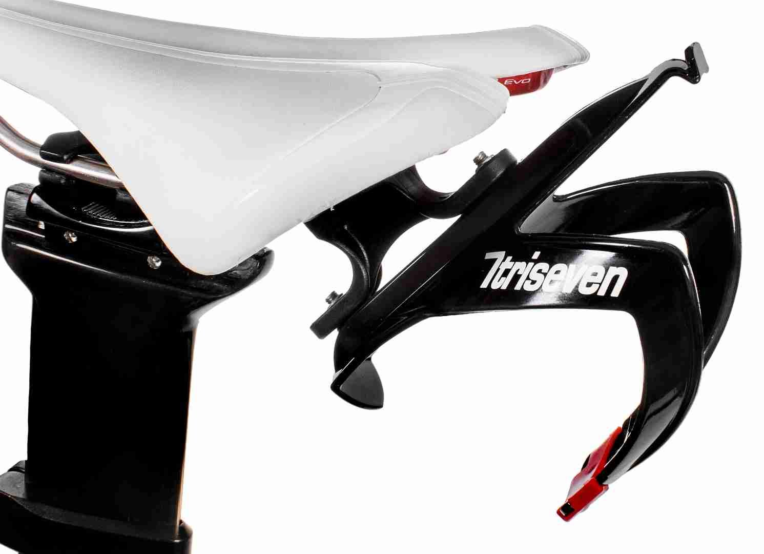 triseven Rear Carrier System - Lightweight Cycling, Triathlon MTB | Easy to Mount & Holds 1 Water Bottle Cage | Includes Complimentary Composite Water Cage!