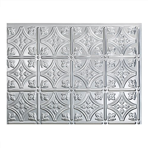 "FASÄDE Easy Installation Traditional 1 Brushed Aluminum Backsplash Panel for Kitchen and Bathrooms (18"" x 24"" Panel)"