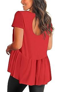 eb2f4302dde Women s Criss Cross V Neck Long Sleeve Casual Loose T Shirt Dresses ...