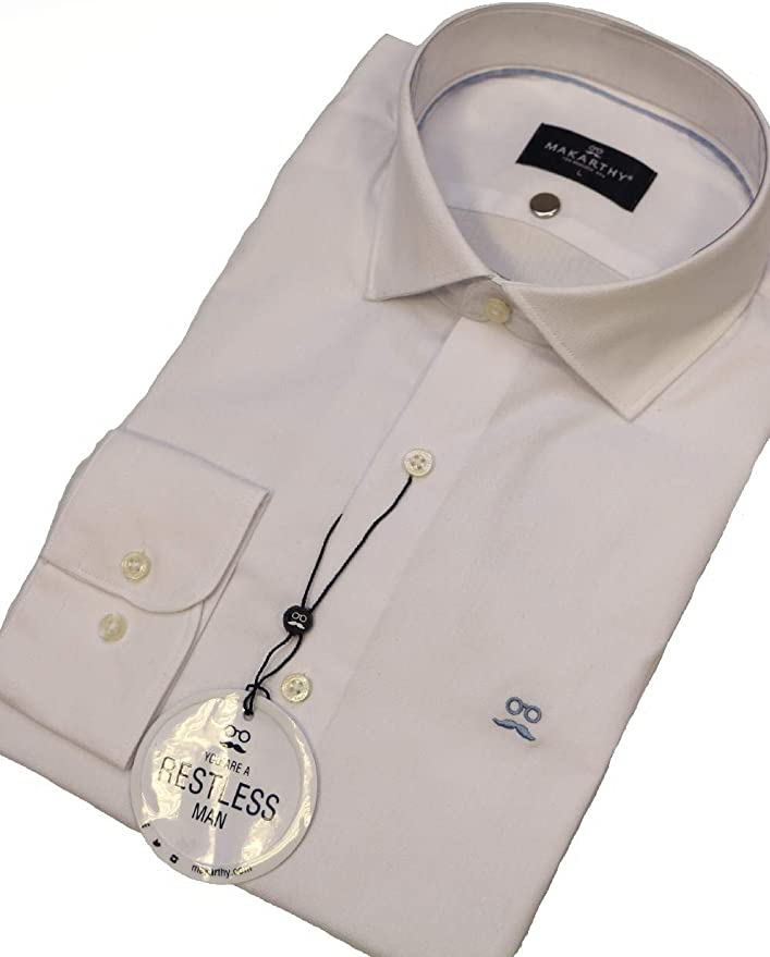 MAKARTHY - Camisa Rombos OXFOR Light Hombre Color: 010 Blanco Talla: Size XXL: Amazon.es: Ropa y accesorios