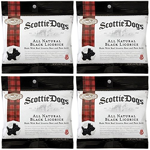 - Gimbal's Fine Candies All Natural Black Licorice Scottie Dogs 2.75 oz Bags (Pack of 4)