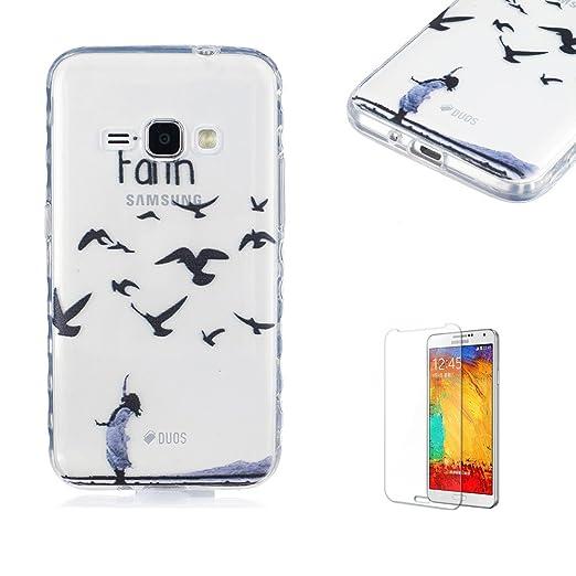 2 opinioni per Cover Per Samsung Galaxy J1 2016 Custodia in Silicone Morbido Trasparente con