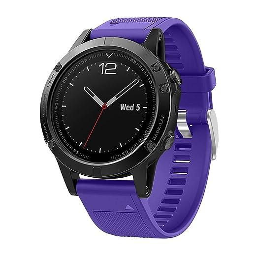 Hombre Mujer Reloj Reemplazo Silicagel Install Soft Band Strap para Garmin Quick Fenix 13 GPS: Amazon.es: Relojes