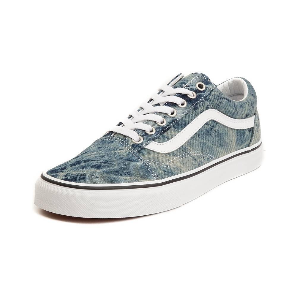 Vans Unisex Old Skool Classic Skate Shoes B07D1SBSZN Mens 10.5/Womens 12|Acid Denim 7183