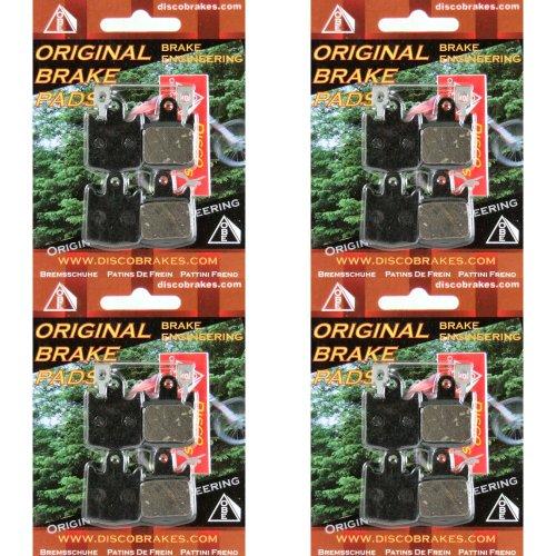 4Pairs of Kevlar Hope M4 Disc Brake Pads (16 Pads+4Springs) DH Enduro 4 MTB Bike by DiscoBrakes