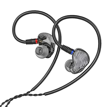 FiiO FA1 Over The Ear Headphones Earphones Detachable Cable Design HiFi Single Balanced Armature Driver Earphones for iOS and Android Computer PC Tablet Swirl Smoke