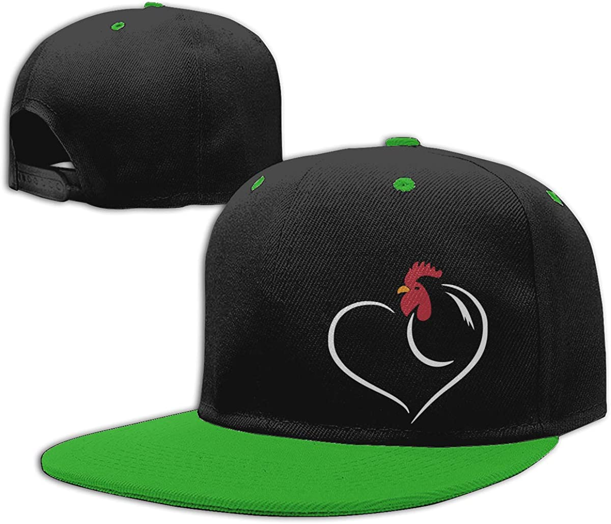 Chickens Heart Unisex Flat Brim Baseball Caps NMG-01 Women Men Trucker Cap