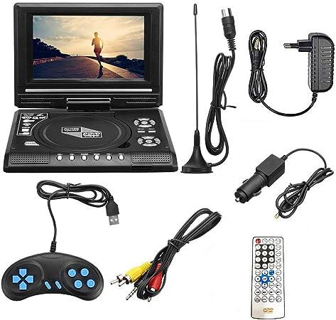 Cosye Multifuncional TV/FM/USB / 7.8 Pulgadas HD TV Reproductor de DVD portátil HD Reproductor de TV portátil con CD Reproductor Multimedia: Amazon.es: Hogar