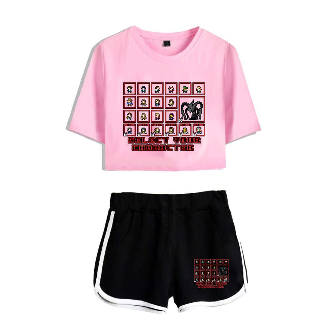 Stranger Things T-Shirt + Shorts 2 Pieces Set Stranger Things 2019 New Season Character Cartoon Printed Summer Sports Tracksuit
