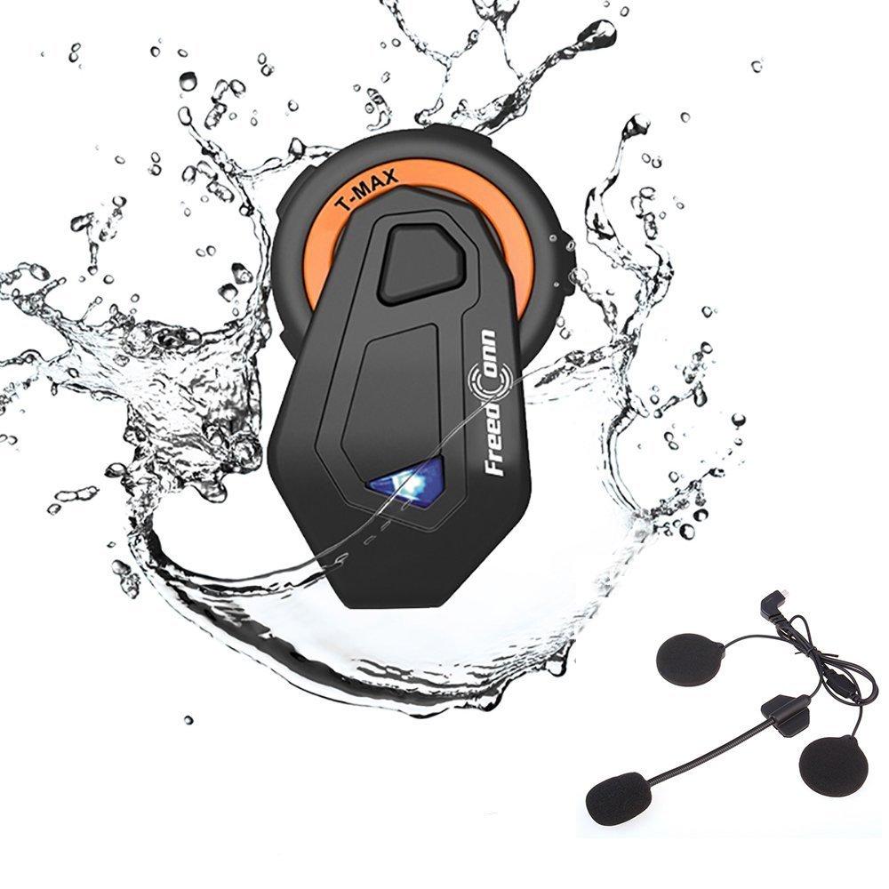 Helmet Communication Systems, Freedconn 1500m Range 6 Riders Universal Wireless Interphone Motorcycle Helmet Bluetooth Headset Intercom (Waterproof/ /Handsfree/Clear Voice/FM Radio/GPS/MP3/Pack 1)