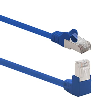 """/""""CAT.6 Netzwerk-Kabel Patchkabel SFTP PIMF blau 0,25m"""