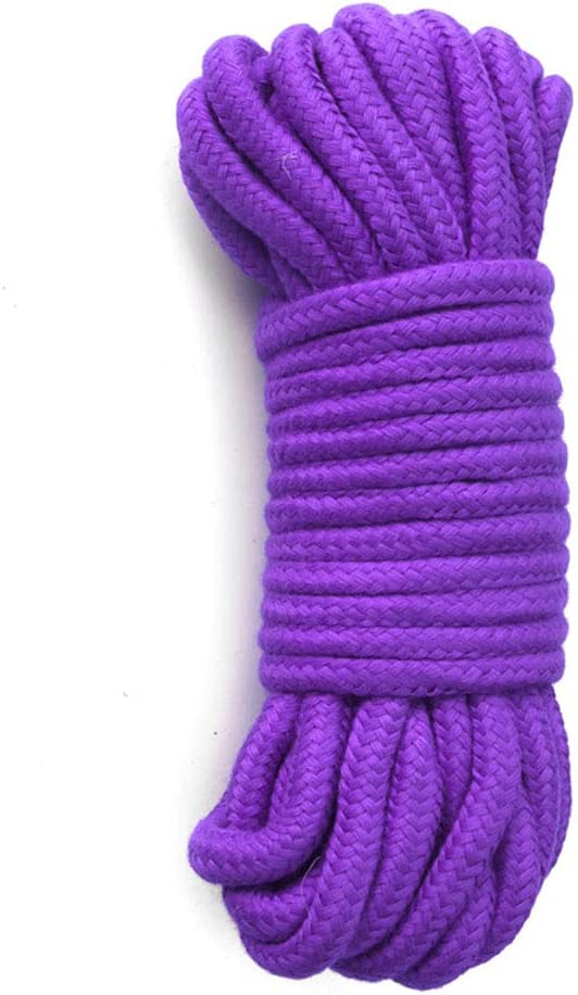 2-Pack 32 Feet 10 Meter Soft Twisted Cotton Knot Tying Rope Cord LEVOSTORE Natural Twisted Cotton Rope 2PACK-Black