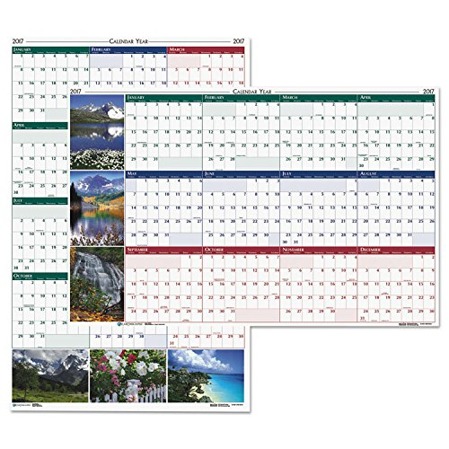 Recycled Earthscapes Nature Scene Reversible Wall Calendar 32 x 48, Jan-Dec 2017