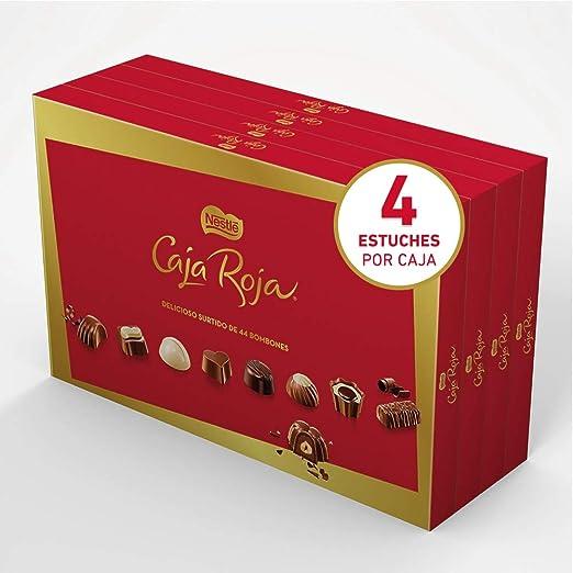 Nestl - Caja Roja - Bombones De Chocolate 400 gr - [pack de 4] - (Total 1600 grams): Amazon.es: Alimentación y bebidas