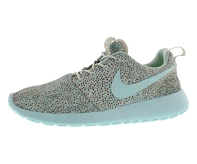 a8281a669a65 Nike Womens Roshe One Print Mesh Printed Running Shoes Blue 9 Medium (B
