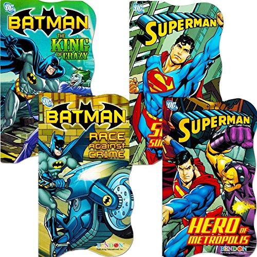 DC Comics Batman vs Superman Board Books for Toddlers - Set of Four Books (2 Batman Books, 2 Superman (Batman For Toddlers)