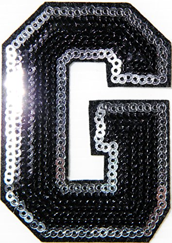 3 English Letter Character Alphabet Sequin Shine Shiny Patch Sew Iron on Embroidered Applique Carft Handmade Baby Kid Girl Women Sexy Hip Hop Snapbac…