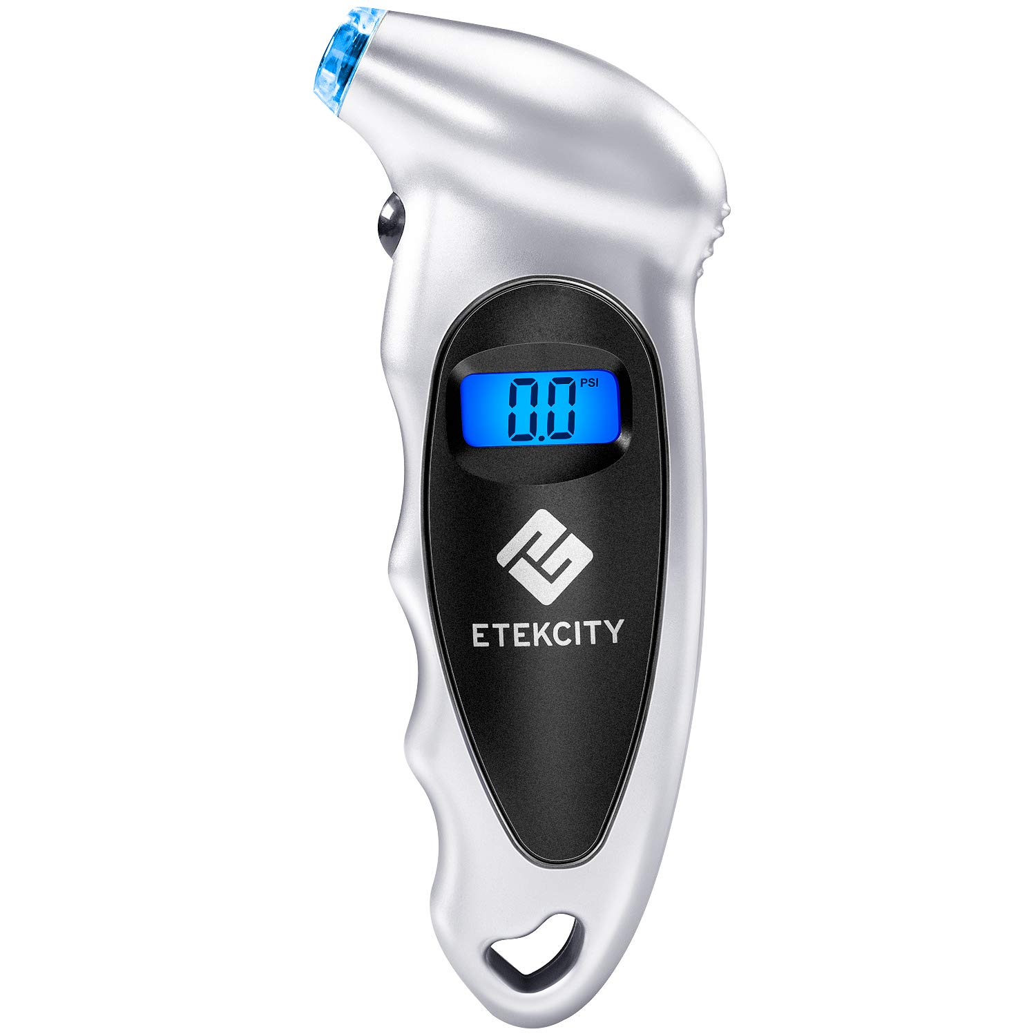 Etekcity Digital Tire Pressure Gauge 150 Psi 4 Settings for Car Truck Bicycle Bike with Backlit LCD, Non-Slip Grip & Lighted Nozzle, 2-Year Warranty, Batteries Included, Silver(1 Pack)