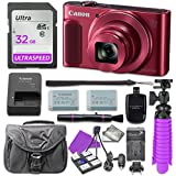 Canon PowerShot SX620 HS Digital Camera (Red) with 32GB SD Memory Card + Accessory Bundle