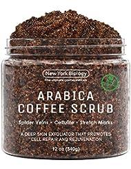 100% Natural Arabica Coffee Body Scrub 12 oz with Organic...