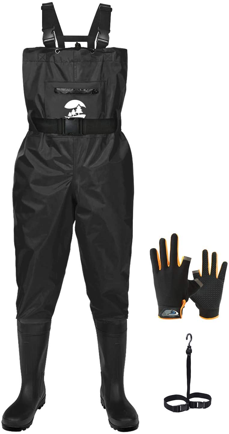 SaphiRose Men's latest Bootfoot Chest Max 78% OFF Wader Waterproof PVC 2-Ply Nylon