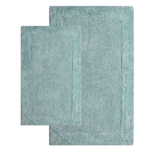 Chesapeake 2-Piece 21-Inch by 34-Inch and 24-Inch by 40-Inch Bella Napoli Rug Set, Moonstone