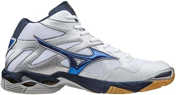 Mizuno WaveBolt 4 Mid whiteblue scarpa da pallavolo m 42