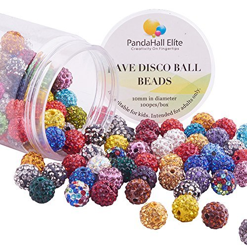 2 opinioni per PandaHall Elite 1 Scatola 100PCS 10mm Perline per Bigiotteria Argilla Disco Ball