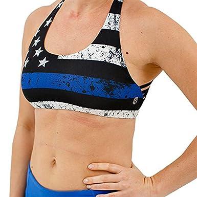 6b194893fc Amazon.com  Vitality Sports Bra (Thin Blue Line Edition)  Clothing