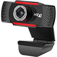 HXSJ HD USB Webcam HD 720P PC Computer Camera Video Calling and Recording with Noise-canceling Mic, Clip on Style For Desktop Laptop Network Skype