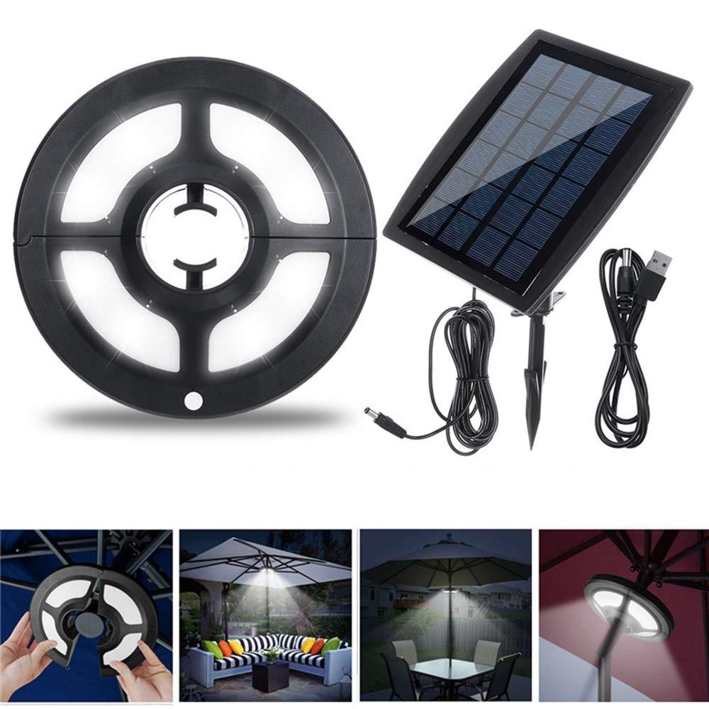 Farway Solar Powered 36 LED Umbrella Light Outdoor Garden Patio Lamp 2 Modes