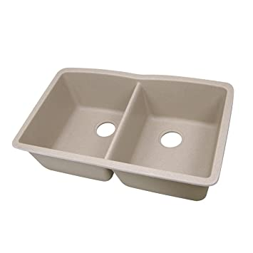 Granite Composite Undermount Kitchen Sinks Highpoint collection 5050 double bowl granite composite undermount highpoint collection 5050 double bowl granite composite undermount kitchen sink in sand workwithnaturefo