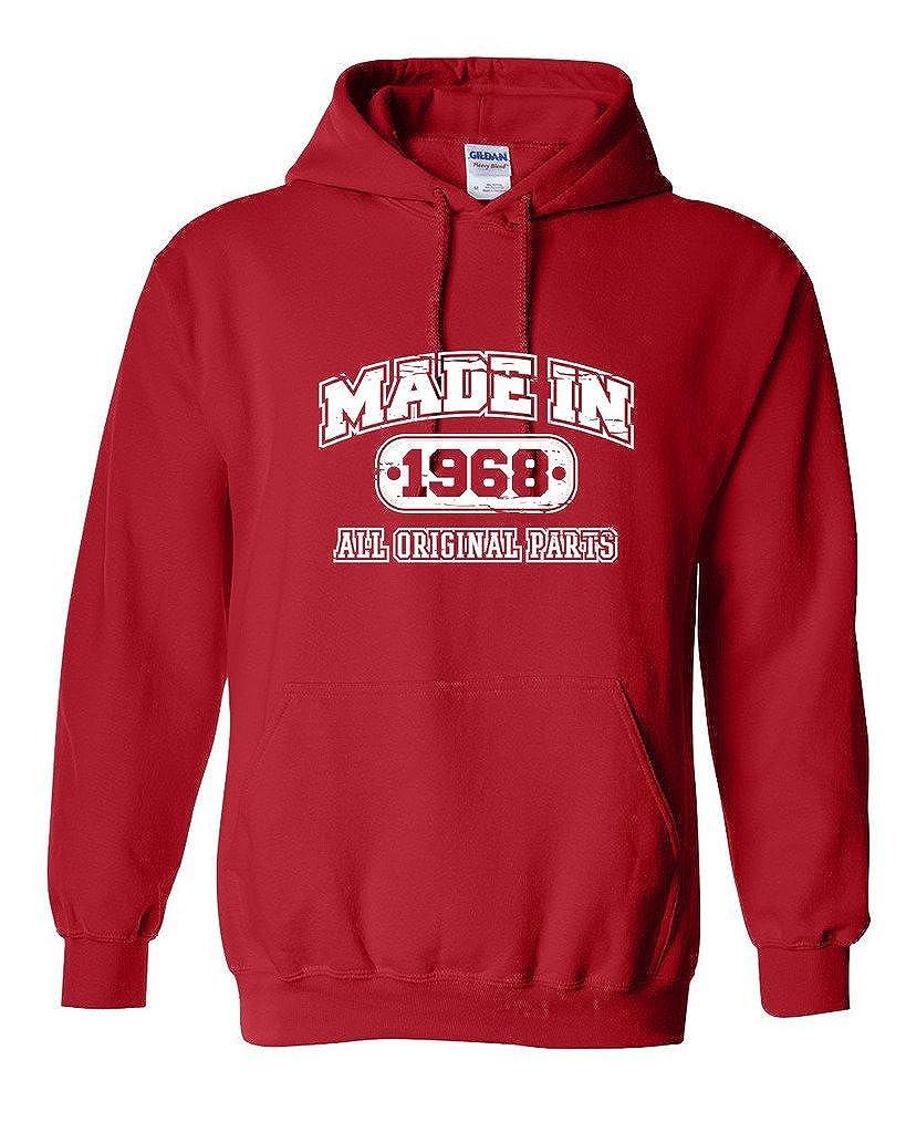 Feelin Good Tees 50th Birthday Hoodie Made in 1968 Sweatshirt Mens Funny Hoodie PS_1168_MADE_1968_HOOD-$P
