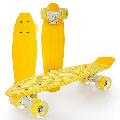 Plaque plaque de poisson banane/Nouveau voyage/Alice brosse rue skateboard/Enfants adultes de chariot à quatre rouleaux