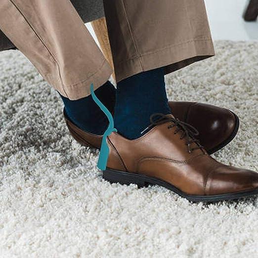 Chausse Pied Plastique Aide Chaussures Paresseuses Lazy Shoe Helper pour Hommes Femmes Enfants Personnes /Âg/ées Toutes Les Chaussures Chausse Pied en Plastique Facile /À Enfiler Et /À Enlever Facilement