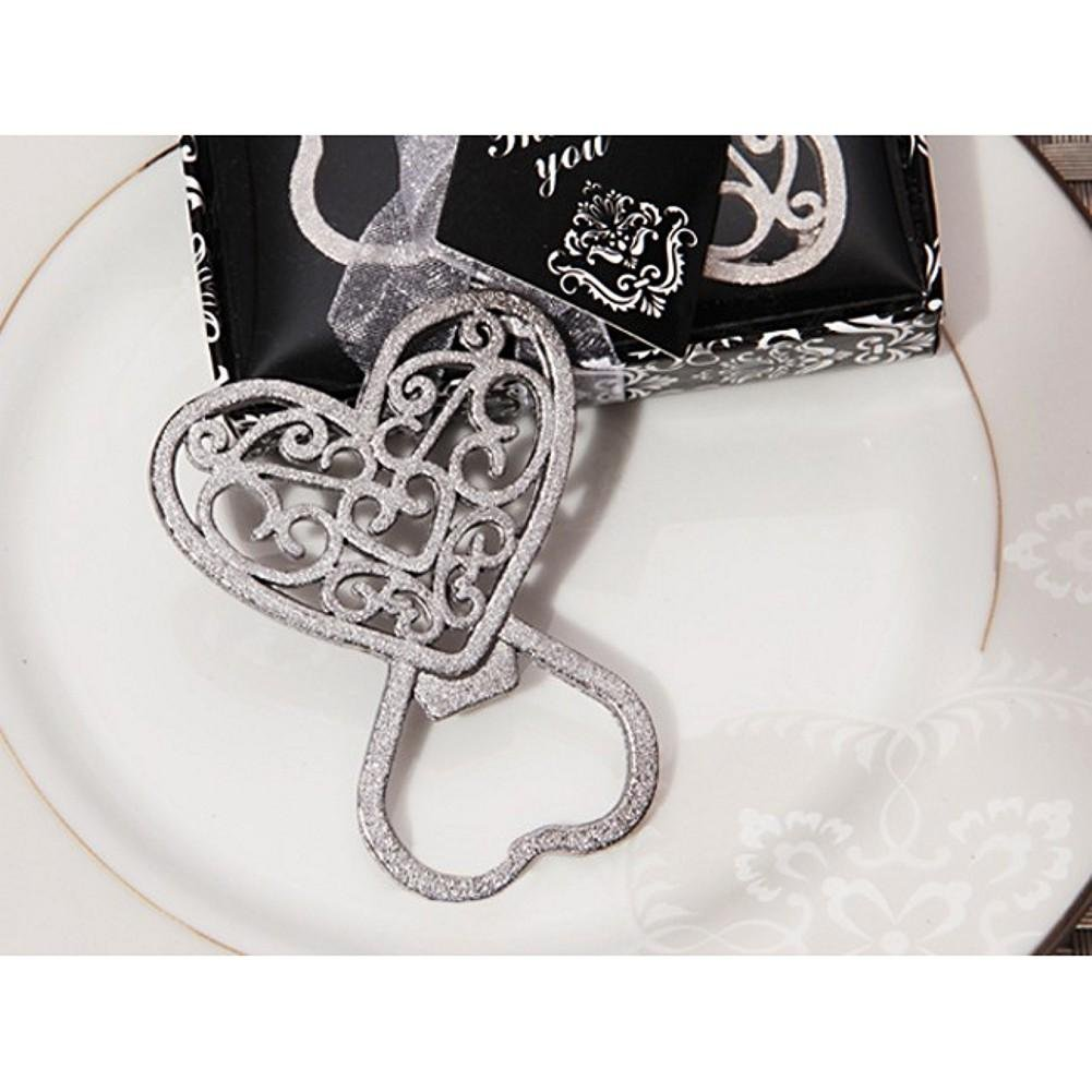 Classic Ornate Heart Bottle Opener - 60 Pieces