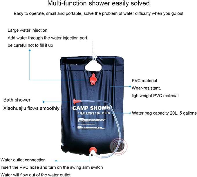 Bolsa de baño de calefacción solar al aire libre de 20L, Para ...