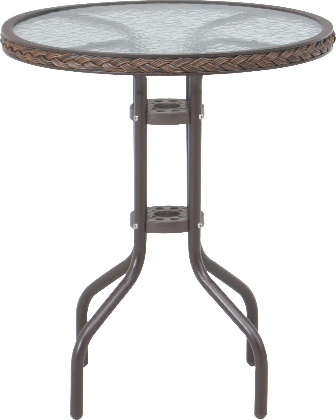 不二貿易 ガラステーブル 60×60cm ナチュラル B01C2NQFCO ナチュラル
