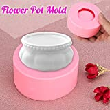 LOCHI Pink Craft Silicone DIY Mold Plant Flower Pot Candler Soap Aromatic Cake Handmade Mould DIY Pottery...