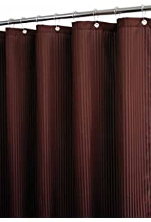 Park B. Smith Satin Stripe Watershed Shower Curtain, Coffee Bean