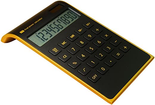 Office//Home Electronics neigbar LCD-Display schwarz NewBlack schwarz solar power geneigt design Dual-Powered Desktop Taschenrechner 【 letitfly 】 Taschenrechner