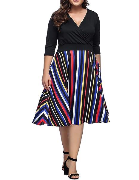 81874ae50a9c Women's Plus Size Dress Off Shoulder High Low Bodycon Mermaid Evening Party Midi  Dress… (