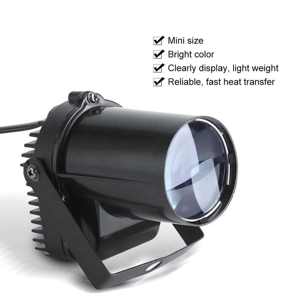 3W LED Beam Spotlight Cool White Party Stage Light Disco Pub Festival Effect Lights US 110V LED Stage Spotlight