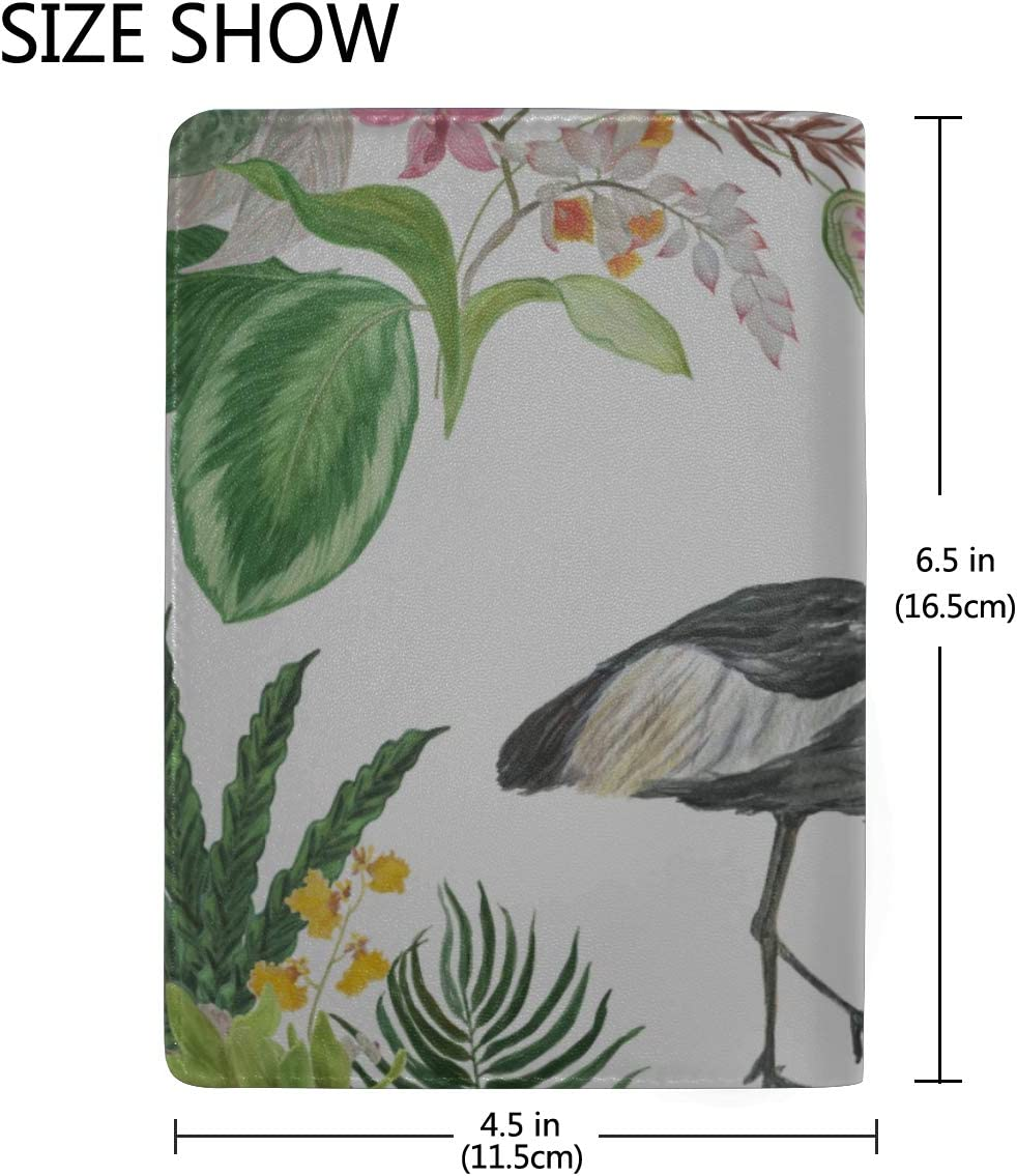 Passport Covers For Women African Crowned Crane And Red Heads Crane Stylish Pu Leather Travel Accessories Passport Holder Cover Pack For Women Men