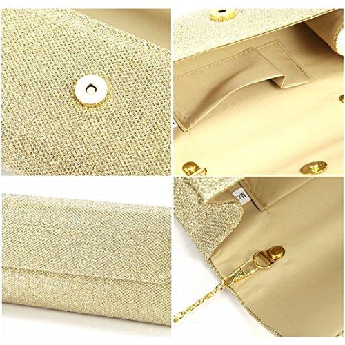 Dazzling Women Glitter Spark Body Tote Wedding Party Bag Bag Bridal Gold Clutch Purse Bag Handbag mo Silver Clutch Multi Cross Small tFq5xnwI5