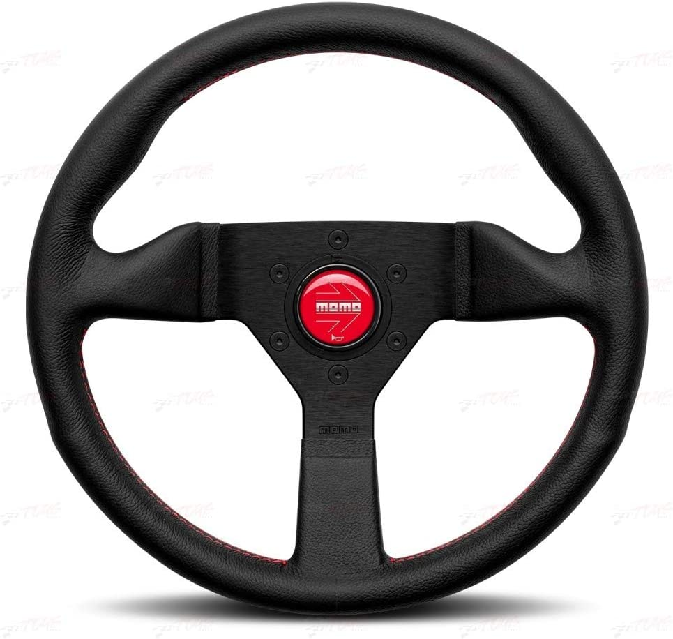 Momo MCL32BK3B Steering Wheel Monte Carlo 320 Leather Red Stich