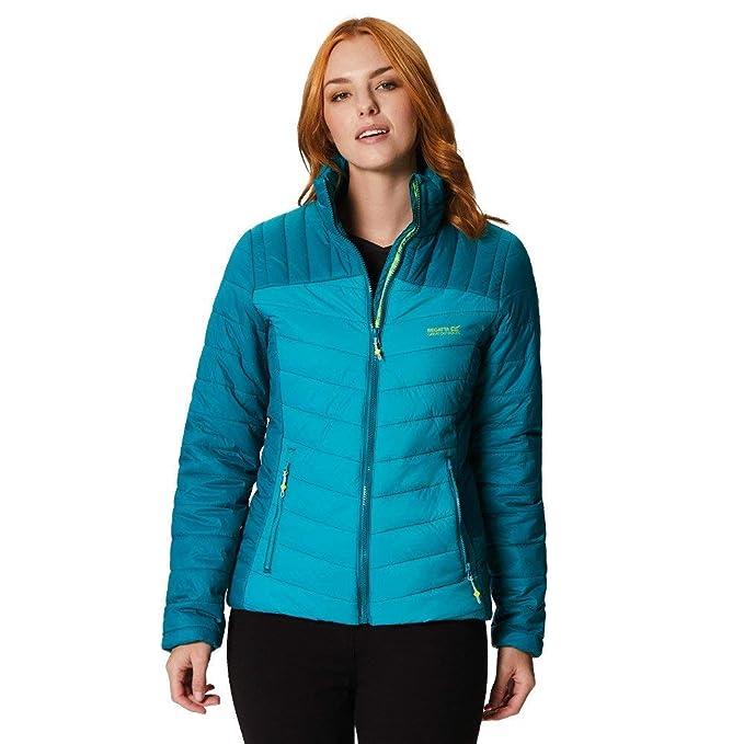 Regatta Women's Icebound III Lightweight Water Repellent Insulated Jacket, Deep Lake/Atlantis, Size 10