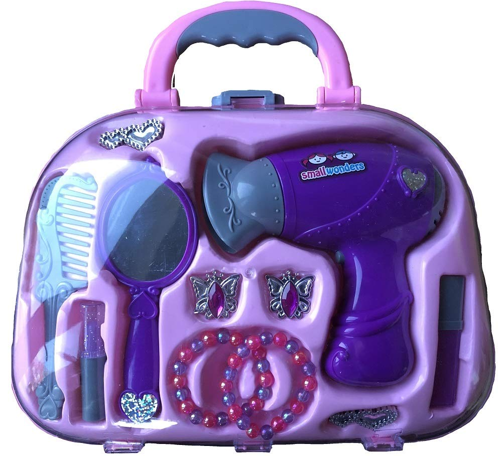 BWR Girls Vanity Case with Hairdryer and Accessories